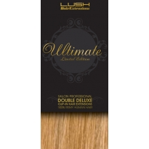 20&quot; Clip In Human Hair Extensions ULTIMATE FULL HEAD #27/613 Caramel/ Bleach Blonde Mix
